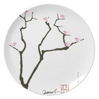 sakura and 7 pink birds 1, tony fernandes dinner plates