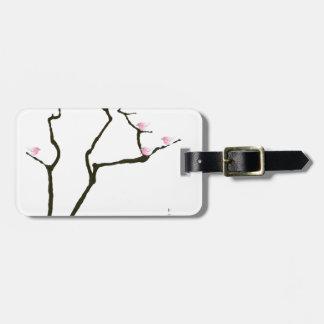 sakura and 7 pink birds 1, tony fernandes luggage tag