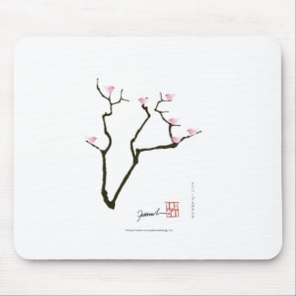 sakura and 7 pink birds 1, tony fernandes mouse pad
