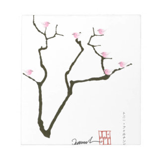 sakura and 7 pink birds 1, tony fernandes notepad