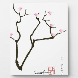 sakura and 7 pink birds 1, tony fernandes plaque