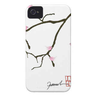 sakura and 7 pink birds 2, tony fernandes Case-Mate iPhone 4 case