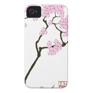 sakura bloom white eye bird, tony fernandes iPhone 4 Case-Mate cases