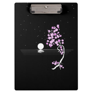 Sakura Blooms under a Full Moon Clipboard