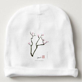 sakura blossom and pink birds, tony fernandes baby beanie