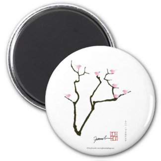 sakura blossom and pink birds, tony fernandes magnet