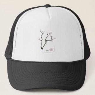 sakura blossom and pink birds, tony fernandes trucker hat