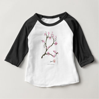 sakura blossom with pink birds, tony fernandes baby T-Shirt
