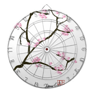 sakura blossom with pink birds, tony fernandes dartboard