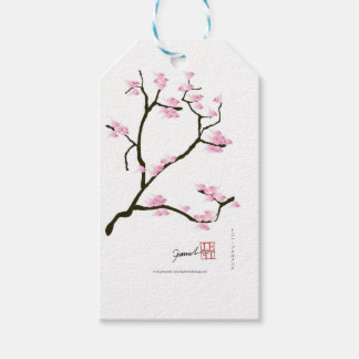 sakura blossom with pink birds, tony fernandes gift tags
