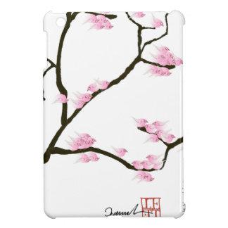 sakura blossom with pink birds, tony fernandes iPad mini case