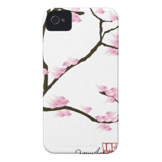 sakura blossom with pink birds, tony fernandes iPhone 4 Case-Mate case