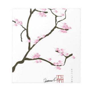 sakura blossom with pink birds, tony fernandes notepad