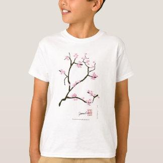 sakura blossom with pink birds, tony fernandes T-Shirt