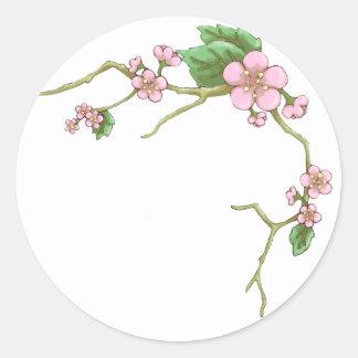 Sakura Blossoms Classic Round Sticker