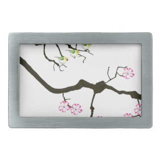 sakura blossoms with birds, tony fernandes belt buckle
