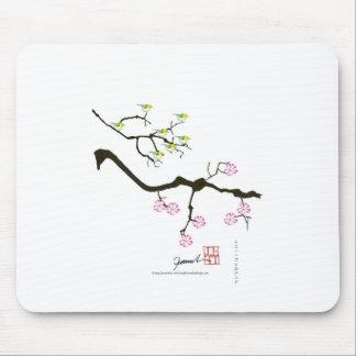 sakura blossoms with birds, tony fernandes mouse pad