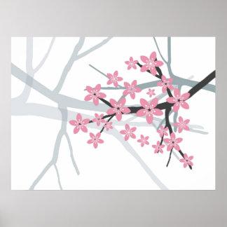 Sakura Branch Original Canvas Print