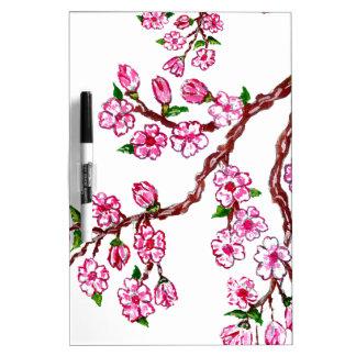 Sakura Branch Painting 4 Dry Erase Boards