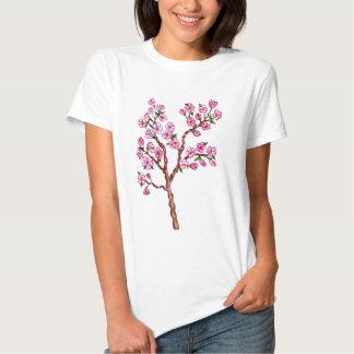Sakura Branch Painting T Shirts