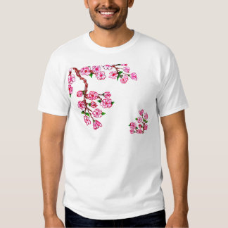 Sakura Branch Painting Tee Shirt