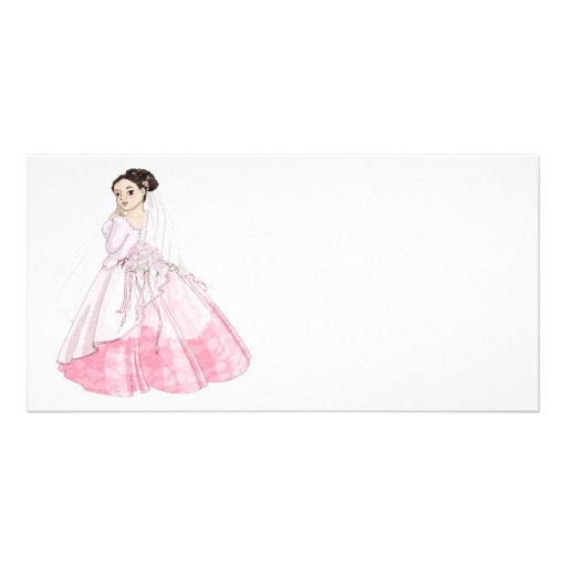 Sakura Bride Photo Greeting Card