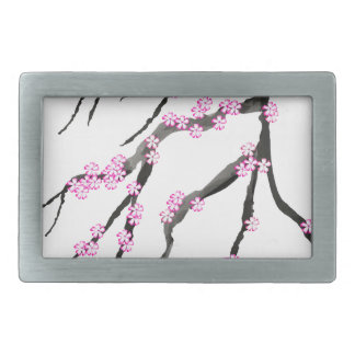 Sakura Cherry Blossom 20,Tony Fernandes Rectangular Belt Buckle