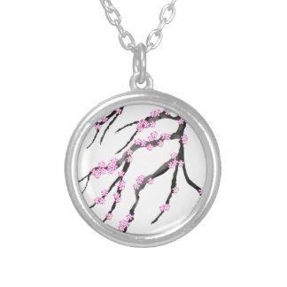 Sakura Cherry Blossom 20,Tony Fernandes Silver Plated Necklace