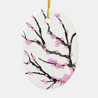 Sakura Cherry Blossom 21,Tony Fernandes Ceramic Ornament