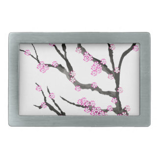 Sakura Cherry Blossom 21,Tony Fernandes Rectangular Belt Buckle