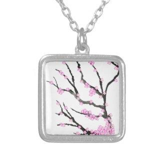 Sakura Cherry Blossom 21,Tony Fernandes Silver Plated Necklace