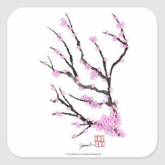 Sakura Cherry Blossom 21,Tony Fernandes Square Sticker