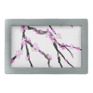 Sakura Cherry Blossom 22,Tony Fernandes Rectangular Belt Buckle