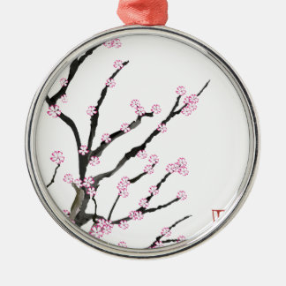 Sakura Cherry Blossom 23, Tony Fernandes Silver-Colored Round Ornament