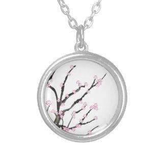 Sakura Cherry Blossom 23, Tony Fernandes Silver Plated Necklace