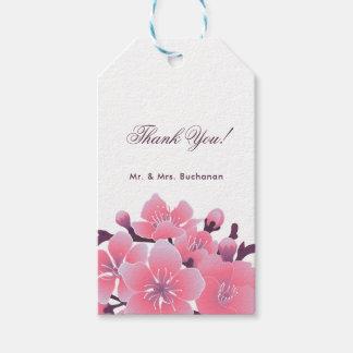 Sakura cherry blossom flower wedding gift tags