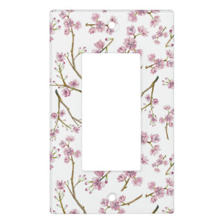 Sakura Cherry Blossom Print Light Switch Cover