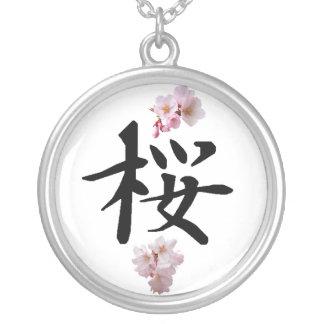 Sakura - Cherry Blossom Silver Plated Necklace