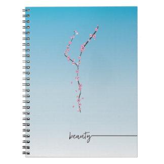 sakura cherry blossom spiral journal __ beauty notebooks