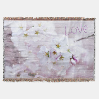 Sakura Cherry Blossom Throw Blanket