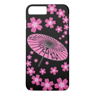 Sakura, Cherry Blossoms and Japanese umbrella iPhone 7 Plus Case