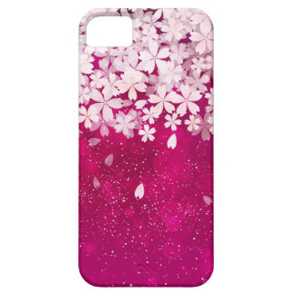 Sakura Cherry Blossoms Fuchsia & White Flowers iPhone 5 Covers