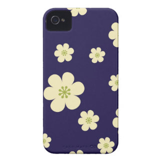 Sakura cobalt blue cherry blossoms floral flowers iPhone 4 cover