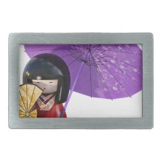 Sakura Doll with Umbrella Belt Buckle