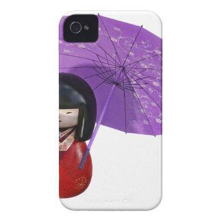 Sakura Doll with Umbrella iPhone 4 Case-Mate Case