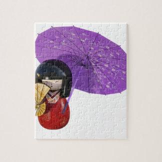 Sakura Doll with Umbrella Jigsaw Puzzle