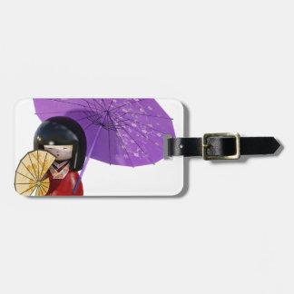 Sakura Doll with Umbrella Luggage Tag