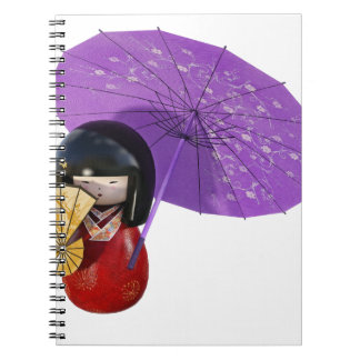 Sakura Doll with Umbrella Notebooks