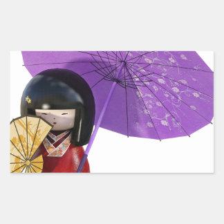 Sakura Doll with Umbrella Sticker