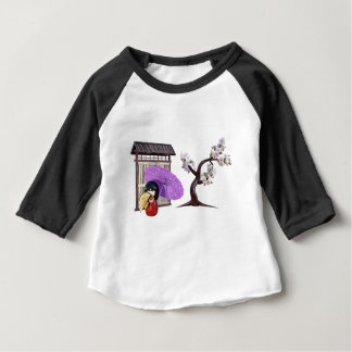 Sakura Doll with Wall and Cherry Tree Baby T-Shirt